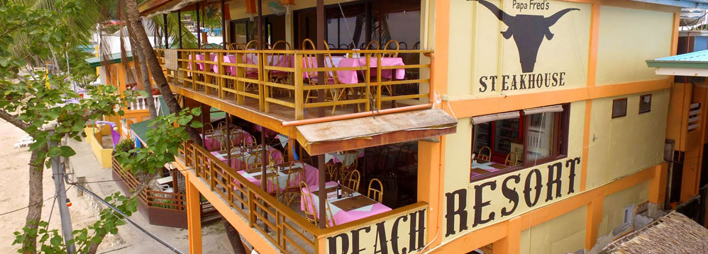 Papa Fred's Steahkhouse Restaurant Puerto Galera
